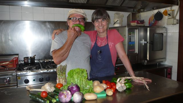 verdure di stagione nella cucina del Cucco